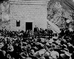 Dedication ceremonies of Roosevelt dam